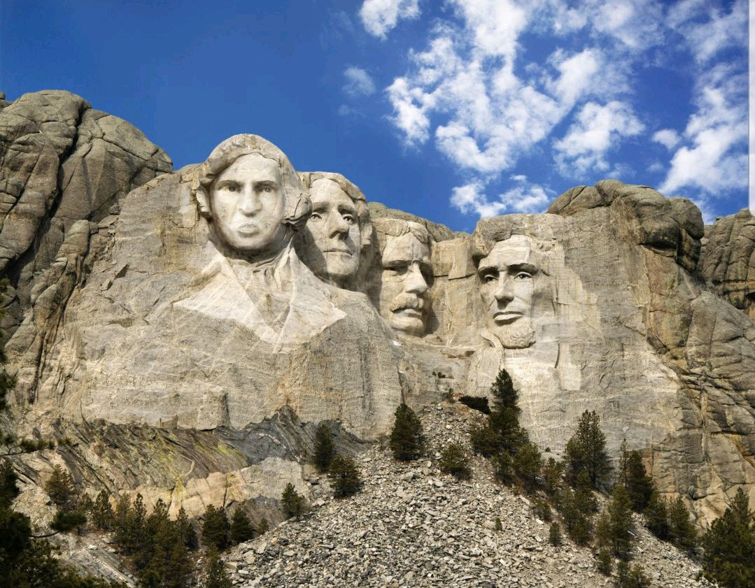 Lincoln, Roosevelt, Washington, Chipperson.