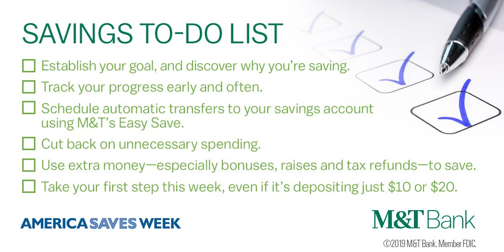 We hope you enjoyed our America Saves Week tips! You can use these tips year-round to set a goal, make a plan and stick to it. #ASW19