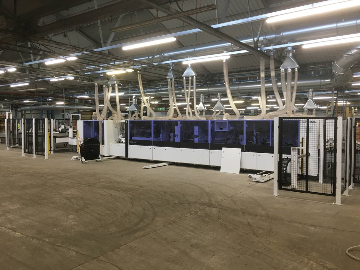 As part of our weekly #InsideDams feature, we'd like to introduce you to our shiny, new Combination Edge Bander machine which we've just installed in our wood factory at Dams HQ! #UKManufacturing