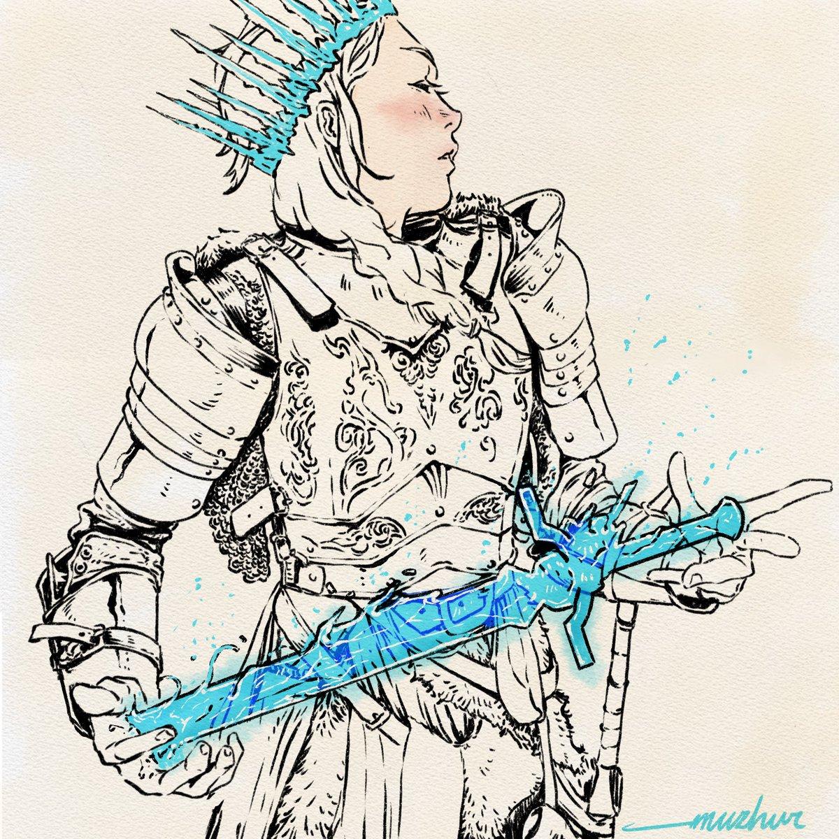 Gods save the Ice Queen #ArtistOnTwitter #Frozen2