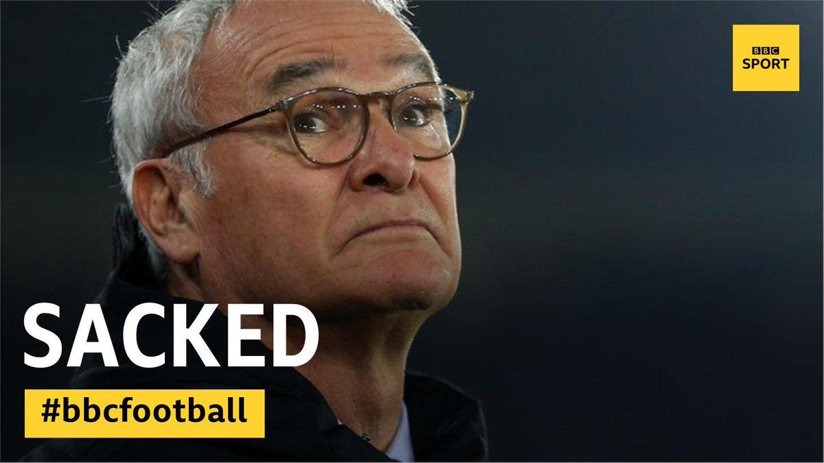 Fulham have sacked Claudio Ranieri.  https://bbc.in/2NzCZ5t