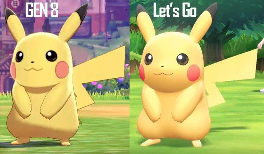Let S Go Sword Shield Pikachu Comparison Pokemon Sword Shield