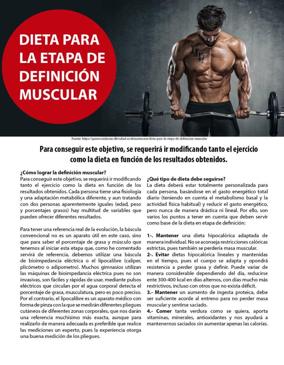 Mejor dieta definicion muscular