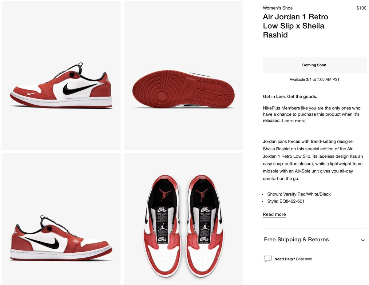 1956034085055c Ad  Coming Soon via Nike US Women s Sheila Rashid x Air Jordan 1 Retro Low  Slip    http   bit.ly 2BXBgSJ pic.twitter.com 4ZJsaWhCUo