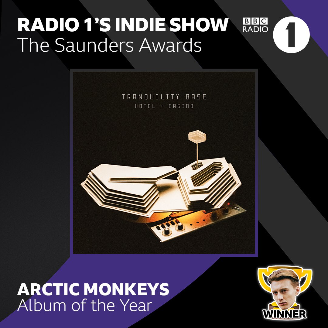 Thanks @jackxsaunders @BBCR1 for the 'Album of the Year' award! https://t.co/twgyc6VZ1T