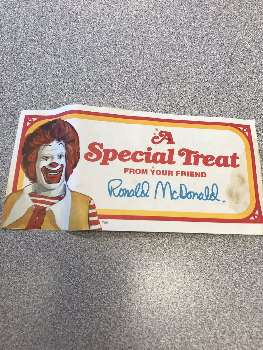 Amazing what you find when you clean up your office! @McDonaldsCanada #40yearOldCoupon