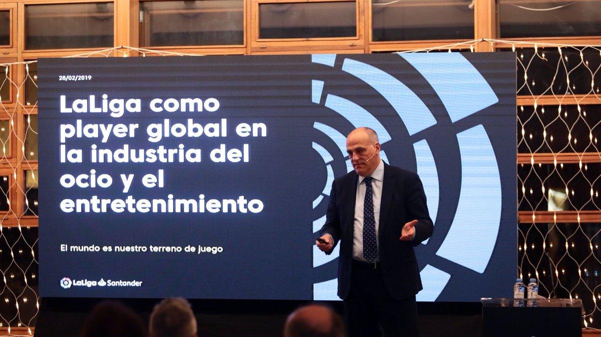 🗣️🤝 La III Jornada del #ClubdeNegocios de la @SDHuesca cuenta con el presidente de @LaLiga, @Tebasjavier, como protagonista principal. Escenario de lujo en el @BalneaPanticosa 🏔️