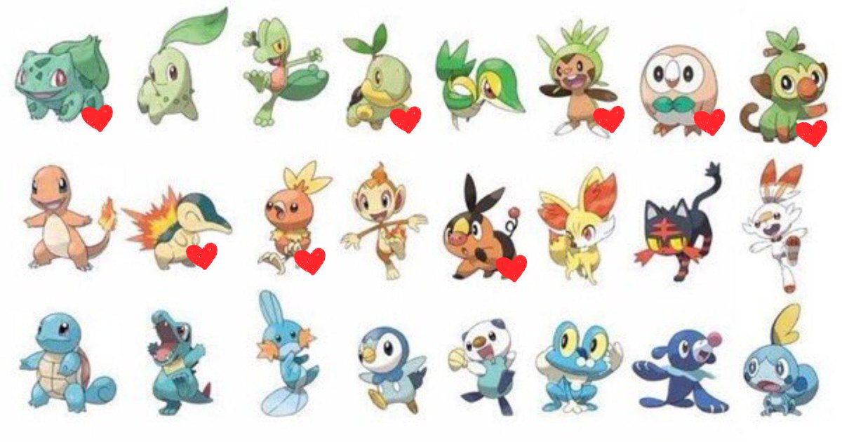 Looks like I'm a grass girl! (side note: all the starters are wonderful and some hard choices were made) #Pokemon