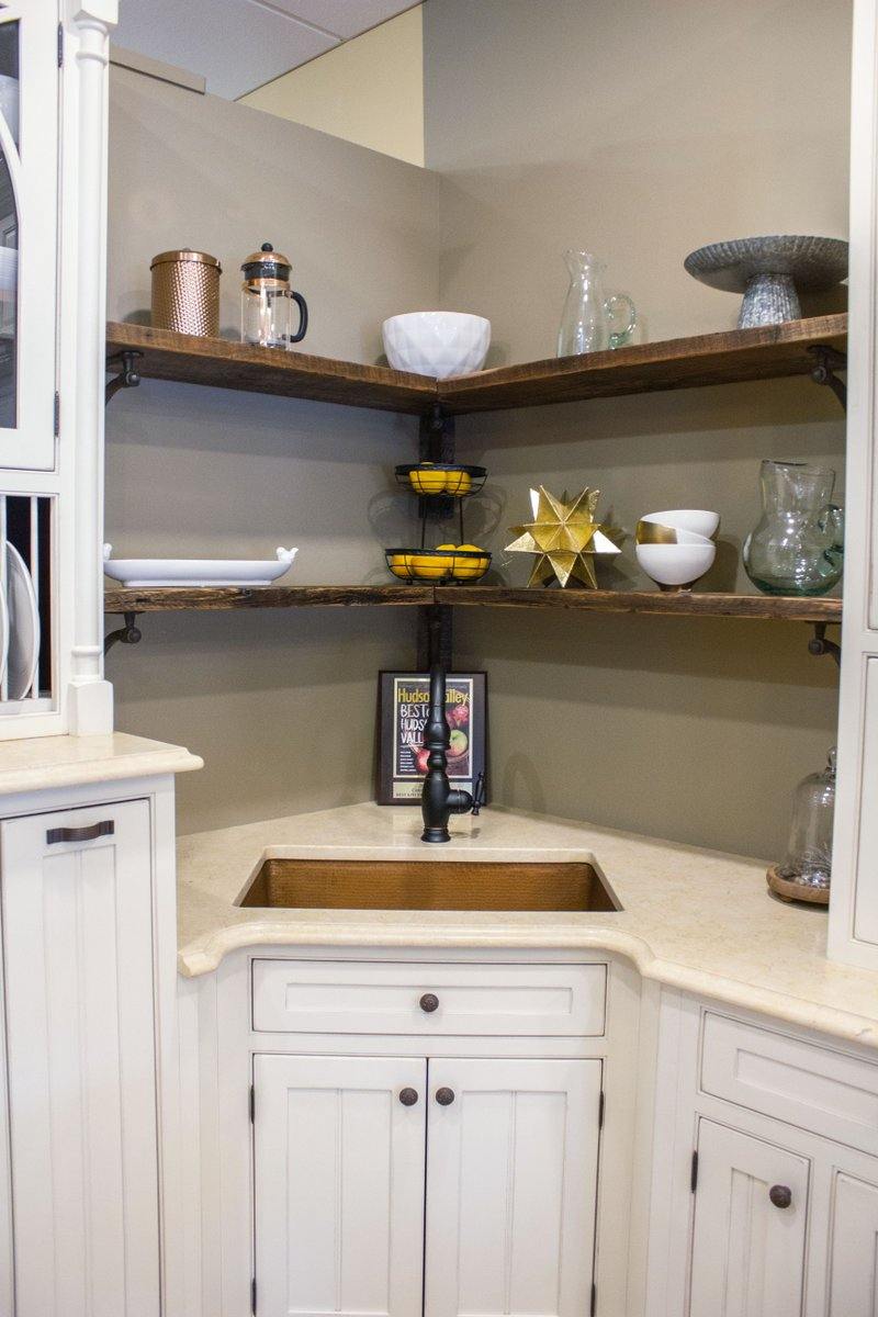 Cabinet Designers On Twitter One Of Our Favorite Things About This Kitchen Display The Built In Hutch Cabinets They Create A Beautiful Place To Display Less Frequently Used Dishware While The Floating