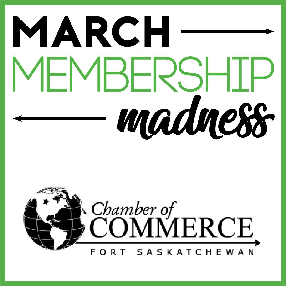 Want a chance to win $250 toward your 2020 membership? Details here: https://www.fortsaskchamber.com/march-membership-madness…