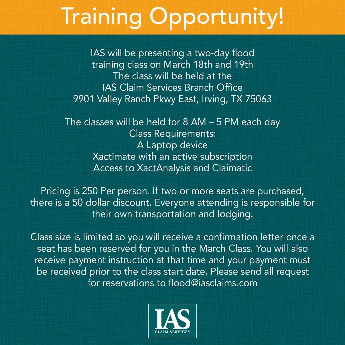 Training Events Ias Claim Services