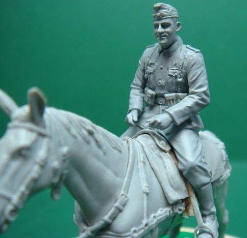 Riich Models 1//35 German Mounted Troops 2 Soldier Figures + 2 Horses