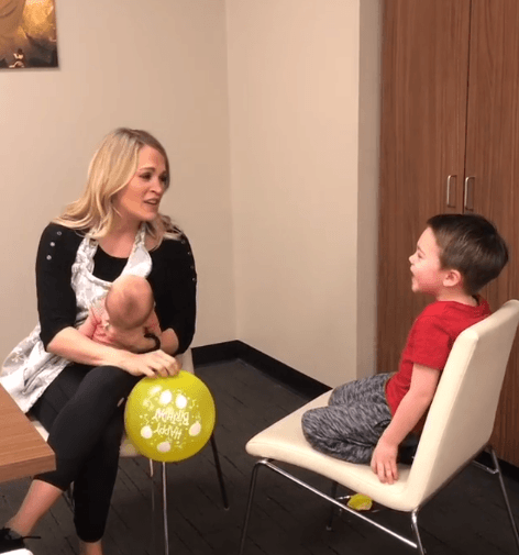 Carrie Underwood Sings Her Son Happy Birthday After Sucking In Helium, And It\s The Best -