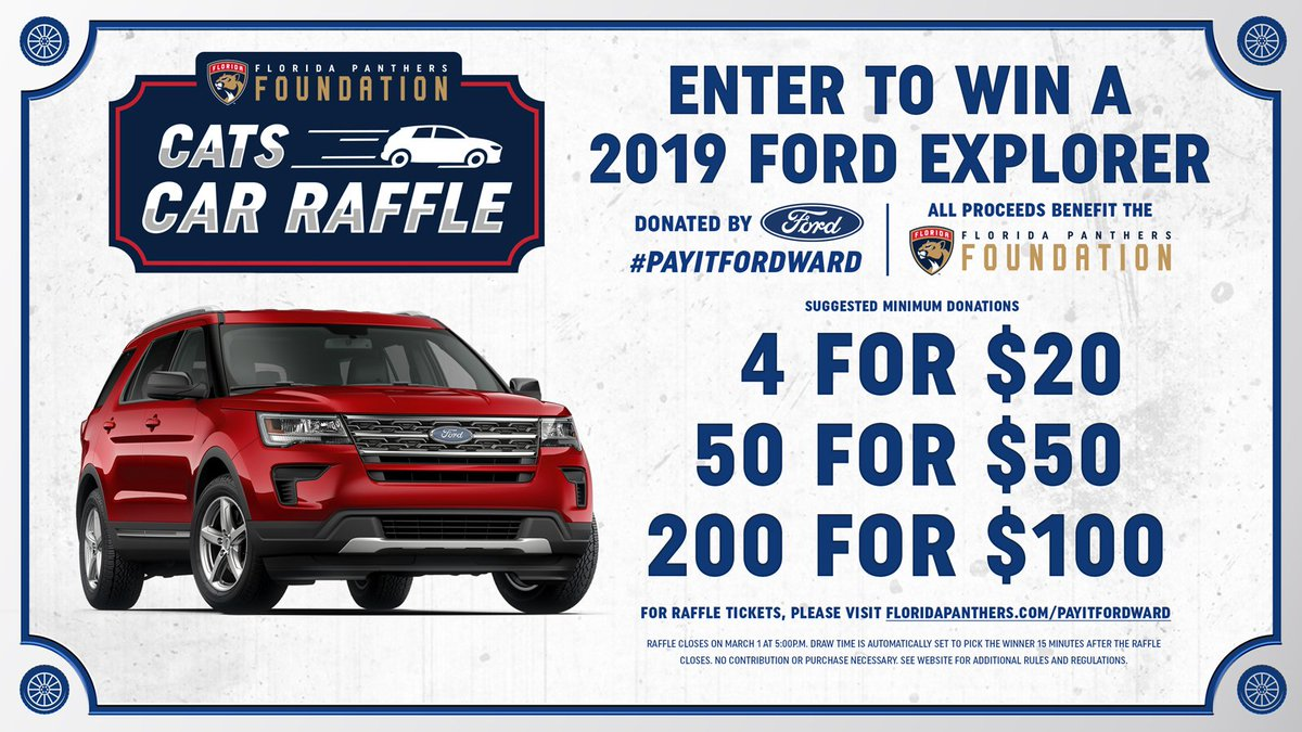 8d3ebdacb52 It s your last chance to enter to win a brand new 2019 Ford Explorer or one  of three-runner up prizes courtesy of  soflaford and  FlaPanthersCARE!