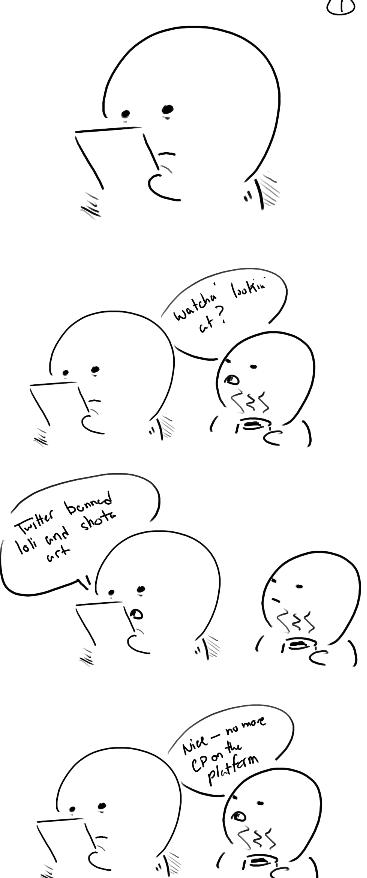 Jeko Ar Twitter A Friend Of Mine Drew A Comic On Twitter Banning