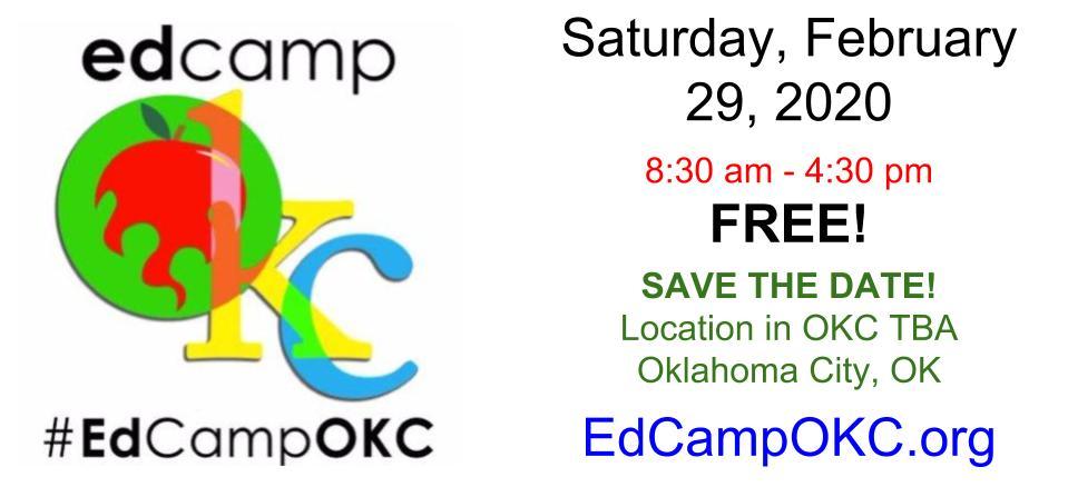 Okcps Calendar 2020 EdCamp OKC (@EdCampOKC) | Twitter