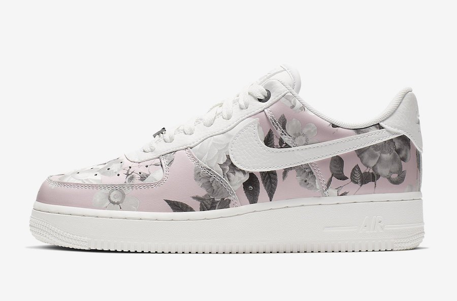 Nike Air Force 1 Womens Pink & White Flowers SneakerNews