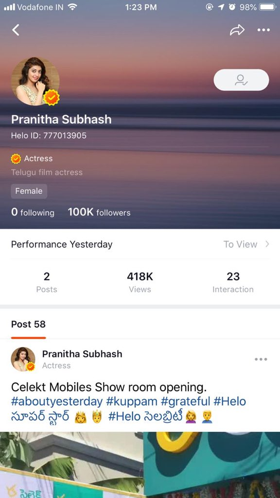 Pranitha Subhash on Twitter:
