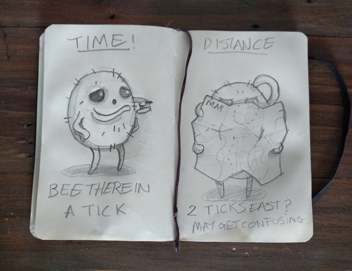 More flea game  Concept sketches for time and distance