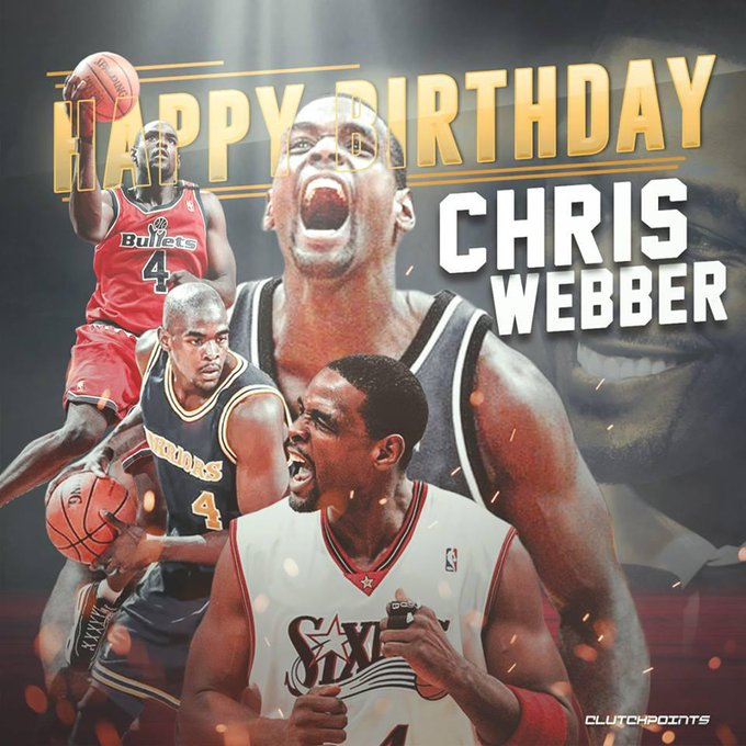 Happy 46th birthday to the 5x NBA All-Star and the 1994 NBA Rookie of the Year, Chris Webber!