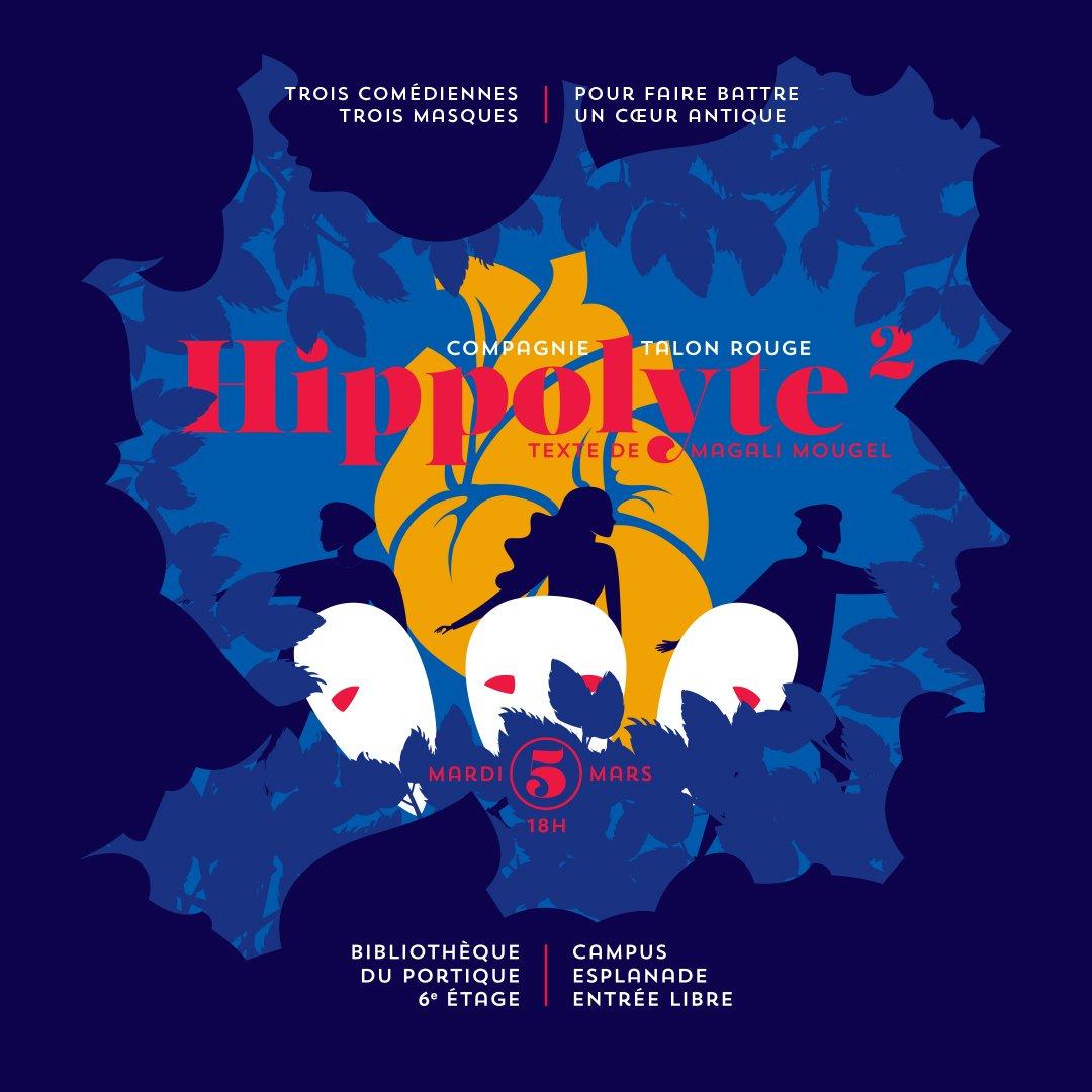 Hippolyte² https://t.co/Z4AvHM2J7c à ne pas manquer sur le Campus de l'Esplanade mardi prochain, le 05 mars - 18h à la Bibliothèque du Portique ! Hippolyte de Magali Mougel, version théâtre au carré par la Cie Le Talon Rouge @TAPS @Unistra @unistra #carteculture https://t.co/UtUyq7nv9A