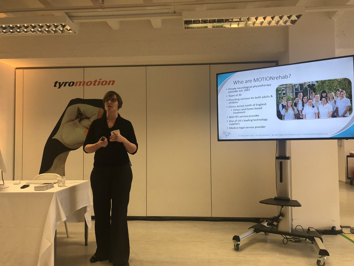 Clinical Director, Sarah Daniel presenting at @tyromotion international partner meeting today in Graz, Austria sharing her experiences opening the UK's first intensive neurological rehabilitation centres #neurorehab