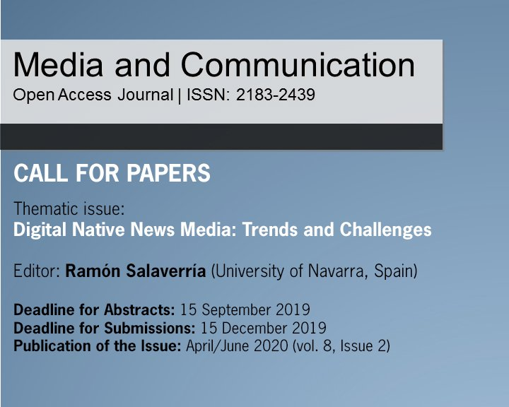 Media & Communication, vol. 8, issue 2