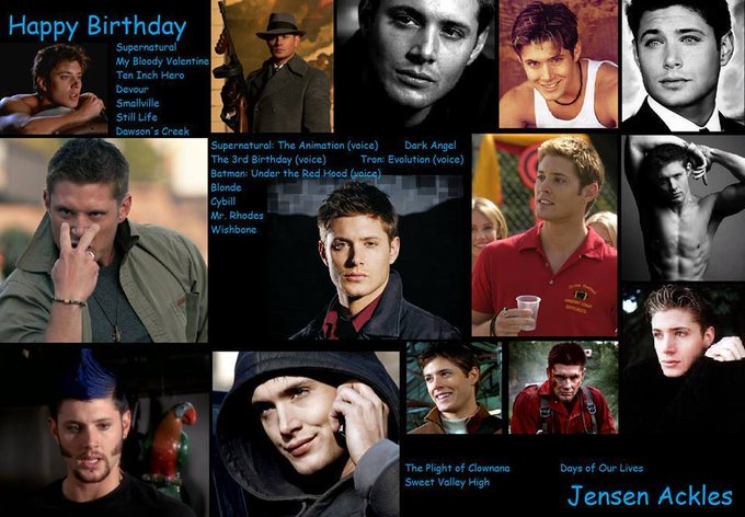 Happy birthday Jensen Ackles, born March 1,1978.