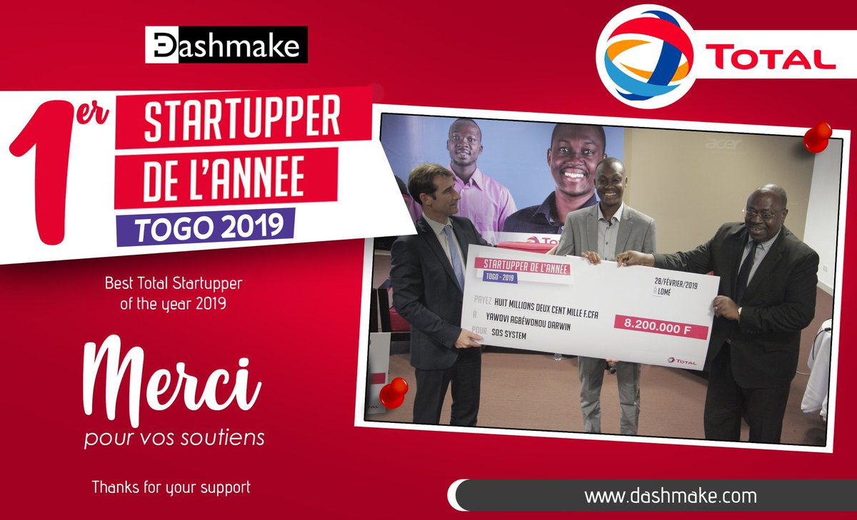 It's a  pleasure for us to announce our nomination as the best startup of the  year for the challenge #TotalStartupper! Thank you all for your support! Above all, continue to believe in us; our progress is the result of your trust!   #TeamDash #TgTech #FirstPrize  #HealthTech https://t.co/mmbfjIl2f6