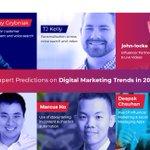🌈Experts Predictions on Digital Marketing Trends in 2019 @vocso @deepakchauhan_v@larrykim @tjkelly @johnlocke185 @MikeKhorev and More.https://t.co/possjobSZH