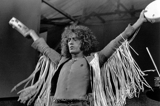Happy Birthday Roger Daltrey. 74 Here he is at Isle of Wight, 1969