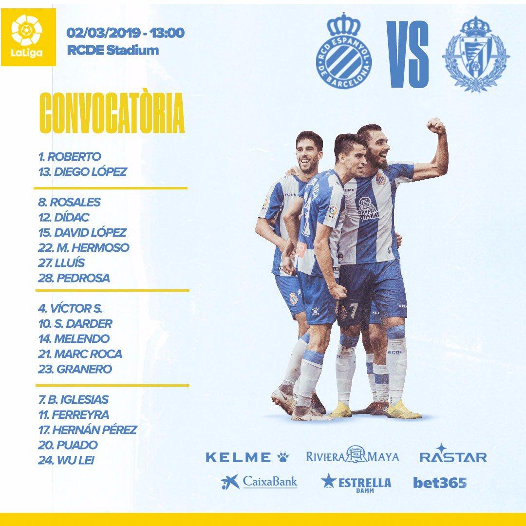 D0kh8hxW0AARdji Rubi convoca a 18 jugadores para recibir al Valladolid - Comunio-Biwenger
