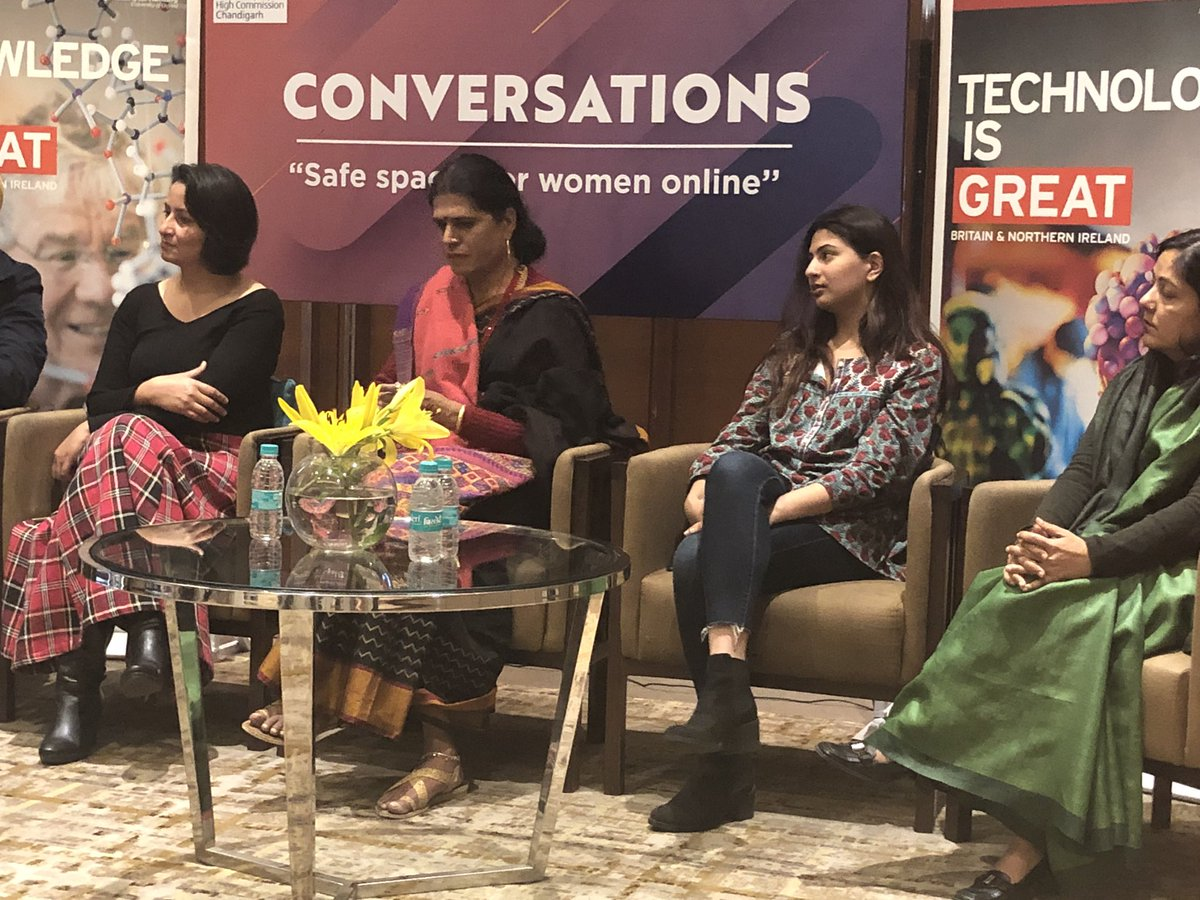 When I posted my picture online in 2017, I received a lot of backlash. I had two choices, either let the online violence silence me or use the platform to amplify my voice. I chose the latter: @mehartweets at 🇬🇧🇨🇦discussion on creating safe online spaces for women in #Chandigarh https://t.co/fWZ5r04c8R