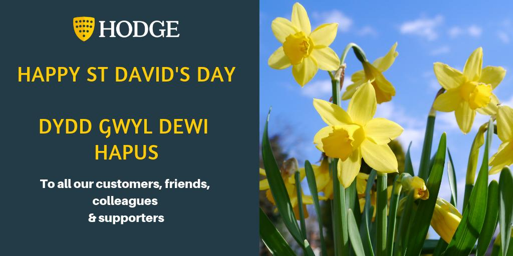 Spring is on its way! Wishing you all a Happy St David's Day from all of us at Hodge 😀🏴#springiscoming #StDavidsDay