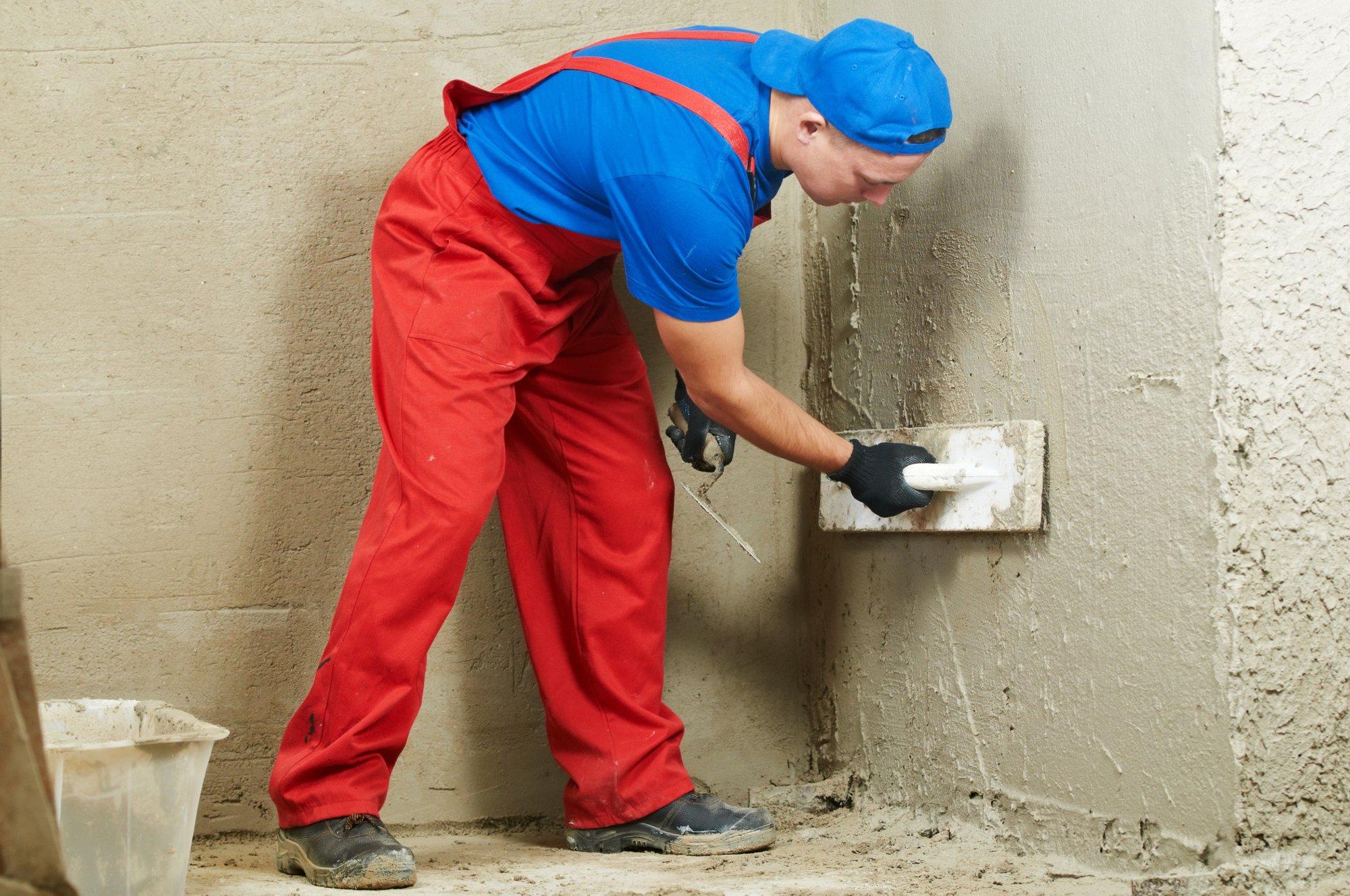 как отштукатурить стены цементом