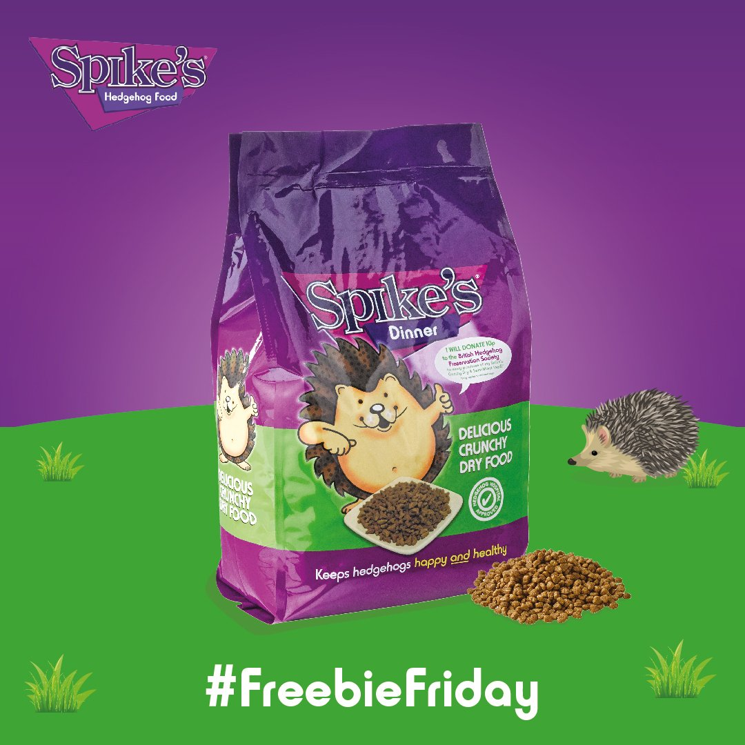RT @SpikesWorldLtd: Time for another #FreebieFriday competition, hedgehog fans! This month, we&#39;re giving three winners a 2.5kg bag each of Spike&#39;s Dry Food! To enter, simply like and share this post! Competition ends 25/03/19. #Competition #Win<br>http://pic.twitter.com/0q0zRiLQOf