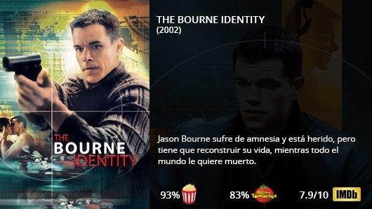 THE BOURNE IDENTITY (2002) Matt Damon Franka Potente Chris Cooper