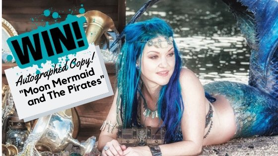 """If you missed #MoonMermaid this weekend you still have a chance to get in on the fun! #EntertoWin an autographed copy of her new book """"Moon Mermaid and The Pirates"""". Signed by Moon AND all of the pirates! #Huzzah! http://bit.ly/2EEYUW6  #captainJackLive #PirateAntonioBlackcrowpic.twitter.com/uA0pJFMhTb"""