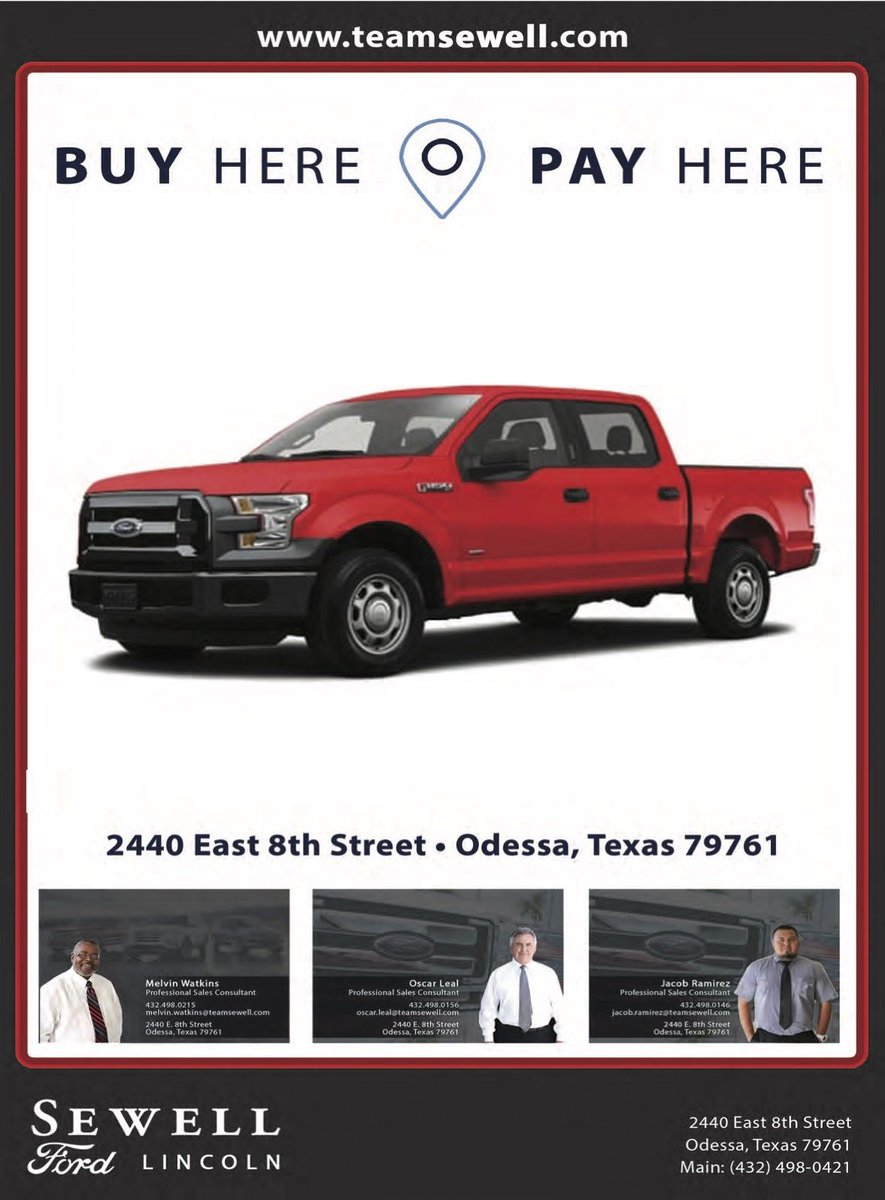 Sewell Ford Odessa Tx >> Want Ads Of Odessa On Twitter Sewell Ford Lincoln Is The