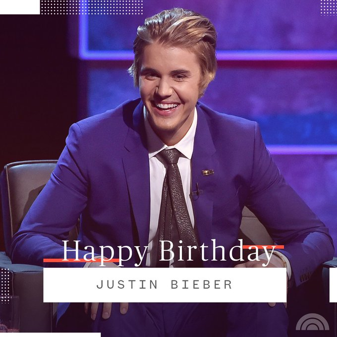 Happy 25th birthday, Justin Bieber!