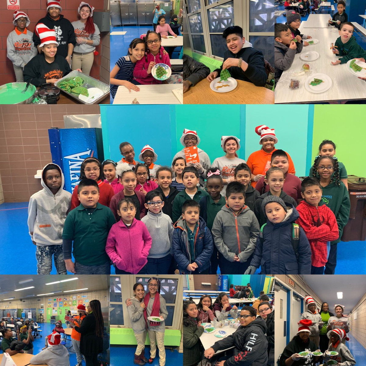 This morning was full of #rsapassion & #pacapride as we celebrated #drsuessbirthday #seniors read aloud to @ps155D4 students and served them #greenwaffles for breakfast #unityinthecommunity #wowwaffles #greeneggsandham #happybirthdaydrsuess #drsuessday #championsforchildren