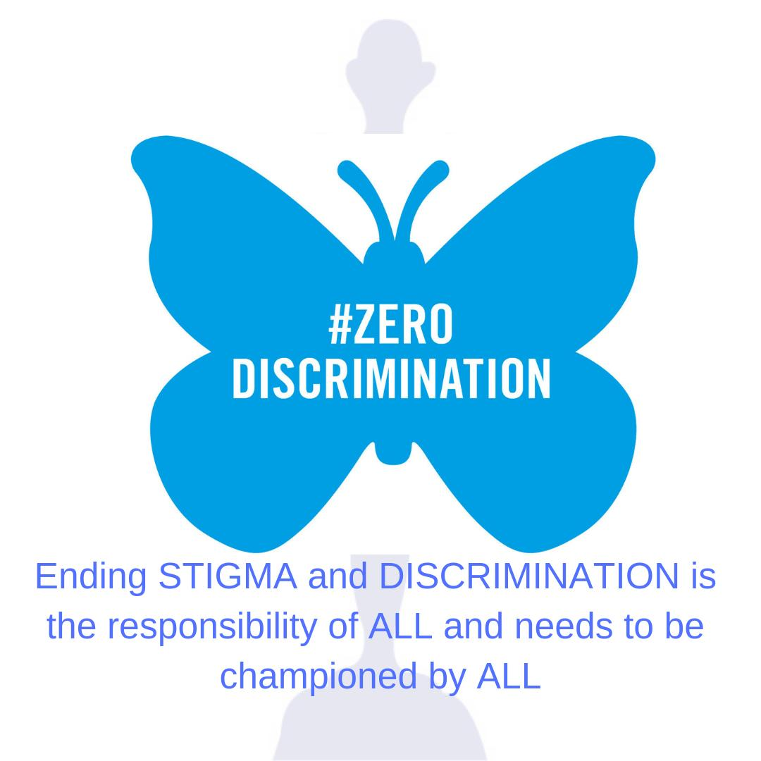 Ending STIGMA and DISCRIMINATION is the responsibility of ALL and needs to be championed by ALL. #1stMarch,2019 #ZeroDiscrimination #HakiHainaJinsia