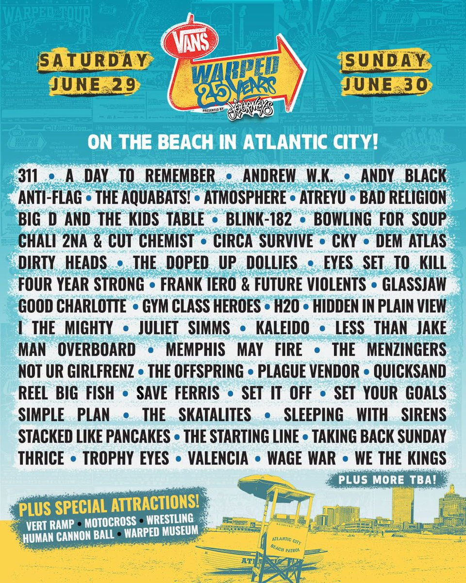 Warped Tour 2020 Bands.Warped Tour Announce Full Lineup For 25th Anniversary Shows