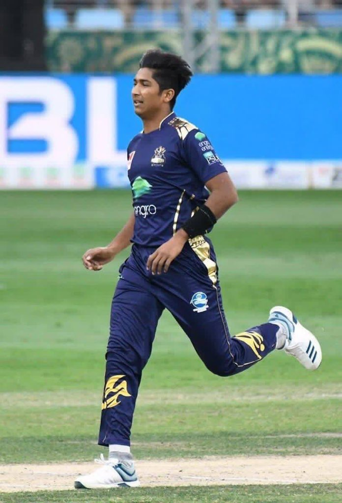 Mohammad Hasnain clocks 150.52kph .. Pakistan's speedster in the making.. fastest ball of the season! #PSL4 #QuettaGladiators https://t.co/WcLqQLSpEj