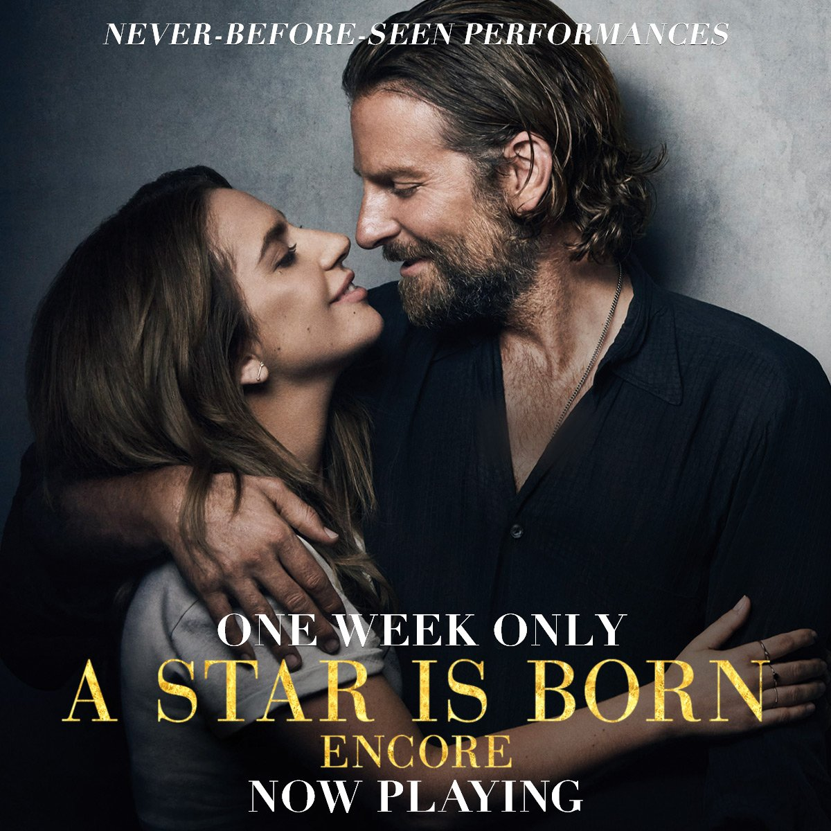#AStarIsBorn  Encore is now playing in theaters for one week only.