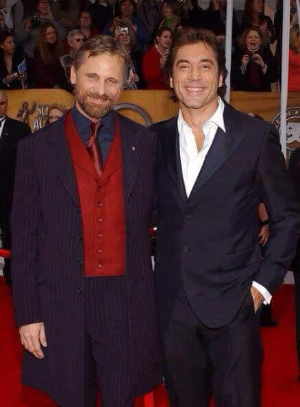 Happy 50th Birthday to Javier Bardem  Viggo Mortensen and Javier Bardem at the 2008 SAG Awards