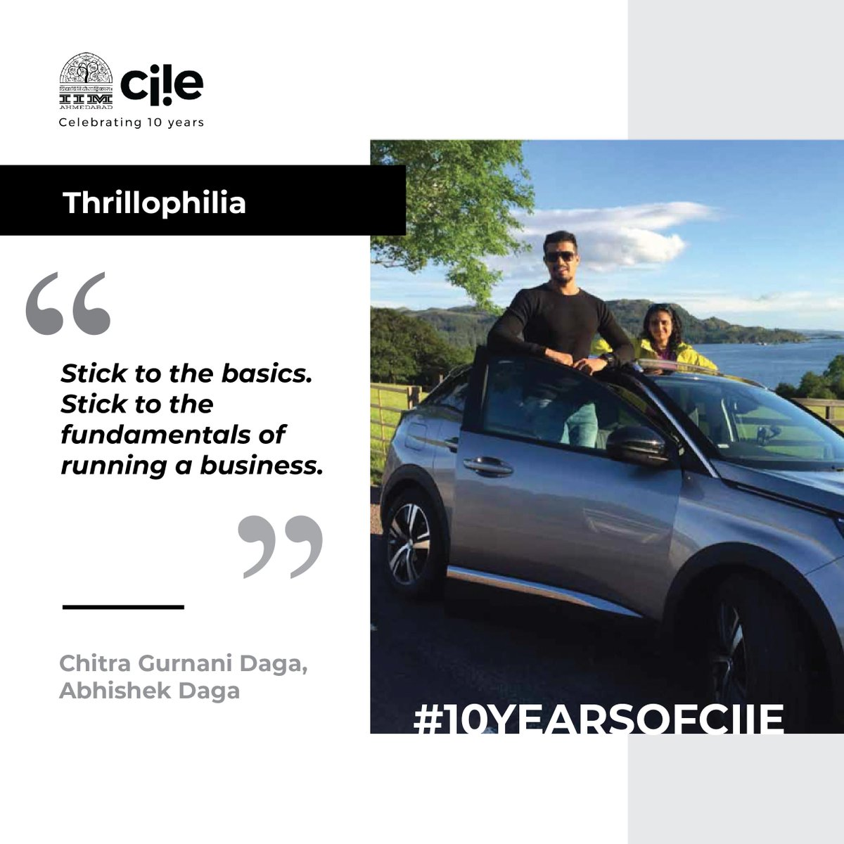 🆕 #OfExperimentsAndEntrepreneurs story -  'Fun is a serious business' for @thrillophilia co-founders Chitra Gurnani Daga & Abhishek Daga. Know more 👉🏽 https://t.co/YwyNMCqJ50 #10YearsOfCIIE https://t.co/gJUbkHR7wv