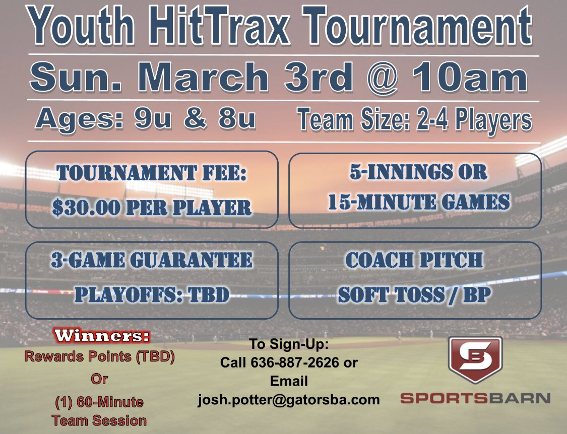 Gators Baseball Academy On Twitter Last Day To Sign Up For Our Hittrax Tournaments Men S Baseball Tomorrow 5pm 8u 9u Tournament Sunday 10am Please Contact 636 887 2626 Or Josh Potter Gatorsba Com To Register Https T Co Lfved2dtni Ask anything you want to learn about josh potter by getting answers on askfm. twitter