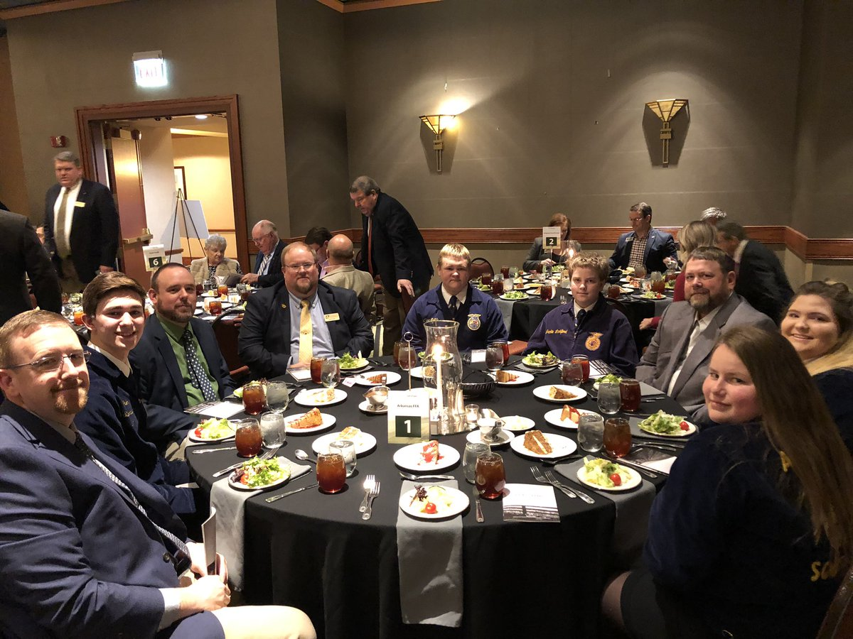 Arkansas FFA members attending the Arkansas Agriculture Hall of Fame Luncheon today celebrating this year's Inductees!