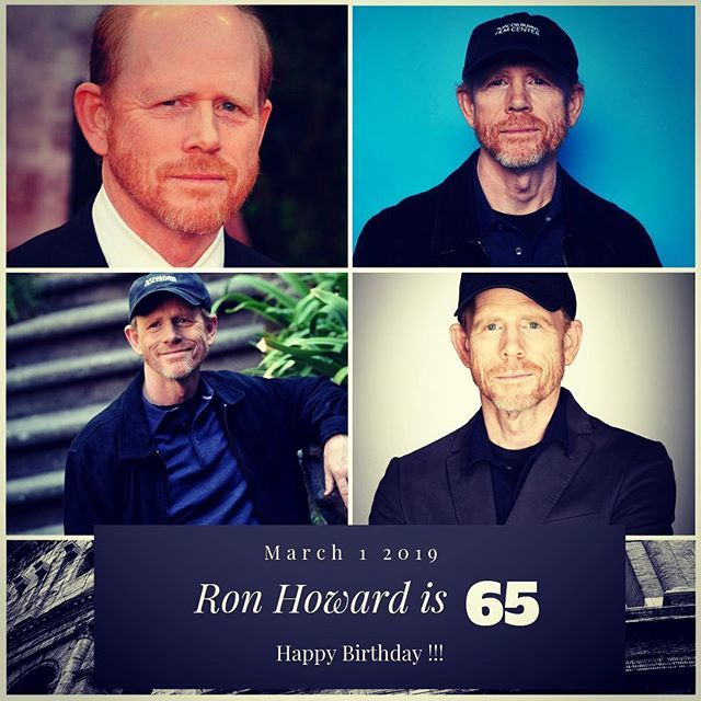 Director Ron Howard turns 65 today !!!    to wish him a happy Birthday !!!